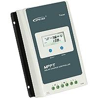Ironheel MPPT Solar Regolatore di carica Tracer, Display LCD 30A 12V / 24V retroilluminazione solare di ricarica della batteria controller con telecomando metro, per la batteria solare - Trova i prezzi più bassi