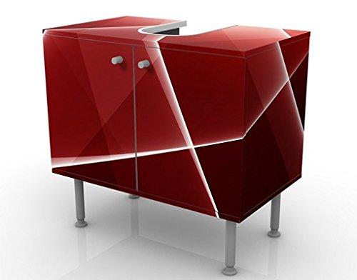 Apalis 54208 Waschbeckenunterschrank Red Reflection, 60 x 55 x 35 cm - 3