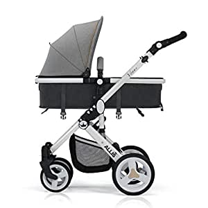Allis® Baby Pram Pushchair Buggy Stroller Carry Cot Travel 2in1 Turquoise