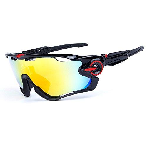 LeaningTech Bike Occhiali da sole polarizzati occhiali da sport 5 lenti sostitutive Occhiali per lo sport in bicicletta sci da