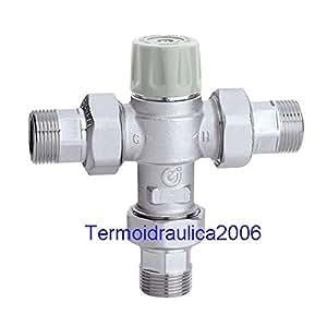 Caleffi 521714 Mitigeur thermostatique anti-brûlure avec clapets 1/2''