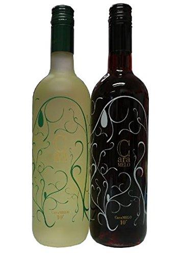 Caramelo-Wein-Geschenk-Set-Rot-Wei-lieblich-je-750ml-Flasche-10-Vol-Tsantali-lieblicher-griechischer-ser-Rotwein-Weiwein-aus-Griechenland-10ml-Sachet-Olivenl-von-Kreta