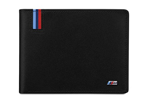 Price comparison product image BMW Genuine Mens M Collection Purce Wallet Holder Black Leather 80212410934