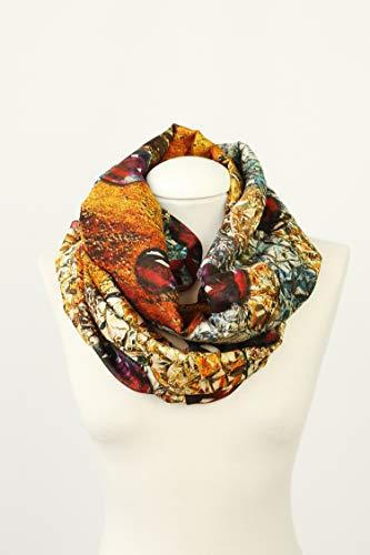 Oversize-Schal mit Juwelendruck, Seidenschal aus Baumwolle von Surreal Artwork