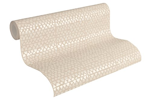 A.S. Création Vliestapete Urban Life Tapete Ethno Look 10,05 m x 0,53 m beige metallic Made in Germany 326573 32657-3 -