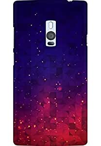 AMEZ designer printed 3d premium high quality back case cover for OnePlus 2 (Abstract Red Blue Sparkles Texture iPhone 5 Wallpaper)