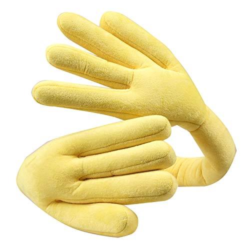 Bright Love Reise-Nackenkissen, Gebogene Hand Förmige Kopfstütze Weiches Auto-Flug Büro Kissen, Nackenschutz, Taillen Kissen Länge 135Cm * 30CM (Sieben Farben Optional),Yellow