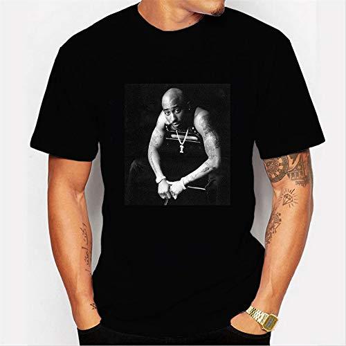 INSTO T-Shirt Mode 3D Drucken Kurz Ärmel Unterhemd Hiphop Superstar 2Pac Karikatur Gedruckt T-Stück Unisex Einfach Wild / A3 / Xxl -