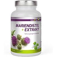 Mariendistel Extrakt mit Silymarin - 600mg pro Kapsel - 120 Kapseln - Hochdosiert - 4 Monatsvorrat - Kombi aus Extrakt und Pulver - Premium Qualität - Made in Germany