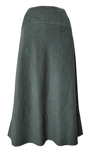 EX SEASALT taille 8 -20 bolatherick velours côtelé jupe - Khali vert/gris, 10