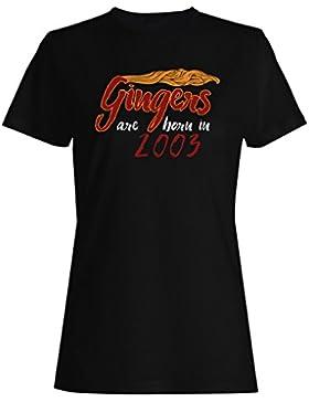 Los gingers nacen en 2003 camiseta de las mujeres c304f