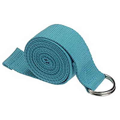 Yoga Yoga-TOOGOO (R) Mode Zubehör Halterung Verstellbare Taille Bein Fitness 180cm-Gurt Training Dehnung d-ring Baumwolle-Blau Halterung