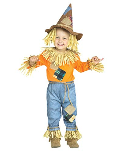 Kostüm Kinder Vogelscheuche - Horror-Shop Freundliche Vogelscheuche Kostüm für Kinder | Unisex 4-6 Jahre