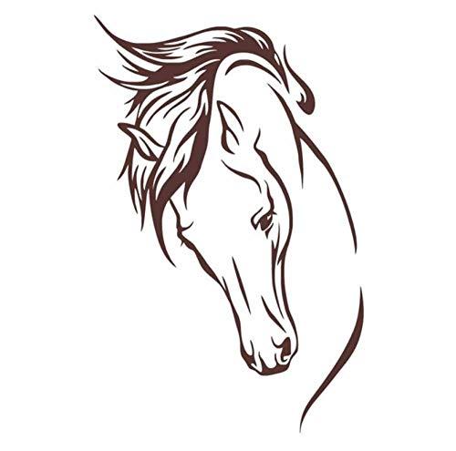 Hxfhxf Kopf Des Pferdes Wandaufkleber Wandmalereien Wohnzimmer Dekorative Tier Vinyl Abnehmbare Tapete Art Decas Wohnkultur 43 * 67 cm