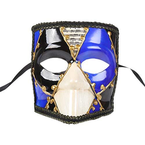 Griechisch Kostüm Paare Römische - Zhhlaixing Maskerade Maske Mens Woman Karierte Maske Kostüm Cosplay Maske Griechisch Römische Partei Maske Karneval Karneval Halloween Bauta Maske für Hochzeitsfeier Ball Prom