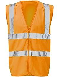Raiken Hi Vis Sleeveless Visibility Jacket High Viz Work Vest Top Size