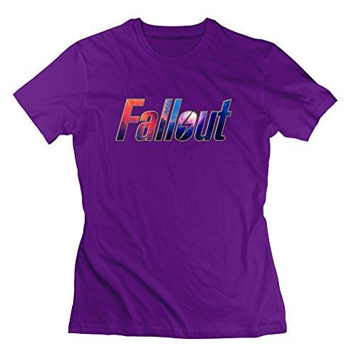 Nana-Custom Tees Damen T-Shirt Violett Violett Gr. M, Schwarz - ()