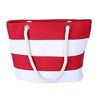 AIYoo Large Beach Travel Tote Bag Canvas Shoulder Bag with Inner Zipper Pocket and Rope Handle for Travel,Shopping Women's Canvas Shoulder Hand Bag Tote Bag