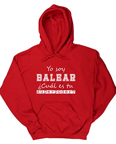 HippoWarehouse Soy Balear, ¿Cuál es tu Superpoder? jersey sudadera con capucha suéter derportiva unisex