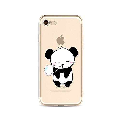"CoqueiPhone 6S Etui Housse,BoomTeck Coque Pour 4.7"" Apple iPhone 6S/iPhone 6 Silicone Souple Transparente Motif Clear Ultra Mince Anti Choc Anti-rayures Gel TPU Etui Protection Bumper Case Panda Mign 14"