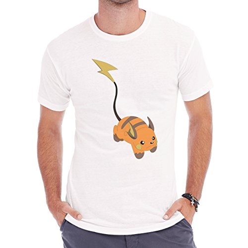 Pokemon Raichu Electric Pikachu Up Herren T-Shirt Weiß