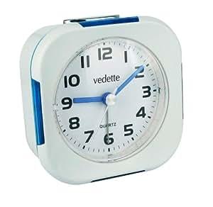 Vedette - VR10030 - Réveil - Quartz Analogique - Trotteuse Silencieuse - Sonnerie Intermittente - Eclairage - Alarme Répétition