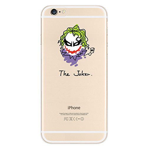 Custodia per iphone 6 Plus 6S Plus, Ukayfe Divertente Capriccioso Design TPU Gel Silicone Protettivo Skin Custodia Protettiva Ultra Slim Shell Case Cover Per Apple iPhone 6 Plus/6S Plus 5.5 pollici co The joker