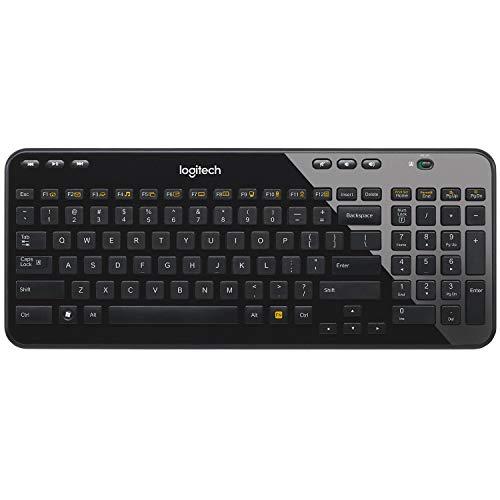 Logitech K360 Clavier Compact sans Fil pour Windows, 2,4 GHz avec Récepteur USB Unifying, 12 Touches Programmables, Batterie Longue Durée 3 Ans, PC/Portable, Clavier AZERTY Français - No