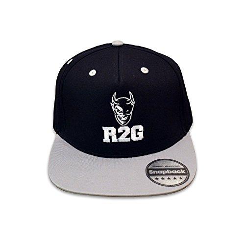 """Preisvergleich Produktbild READY TO GRILL Cap """"R2G"""" - Snapback schwarz / grau mit Logo-Stickerei - BBQ Grill Zubehör / Mütze / Baseballcap"""