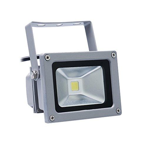 Auralum® 1x 20W LED Flutlicht Fluter Lampe strahler Außen Strahler Scheinwerfer Super hell Leuchte Kaltweiß Wasserdicht Grau