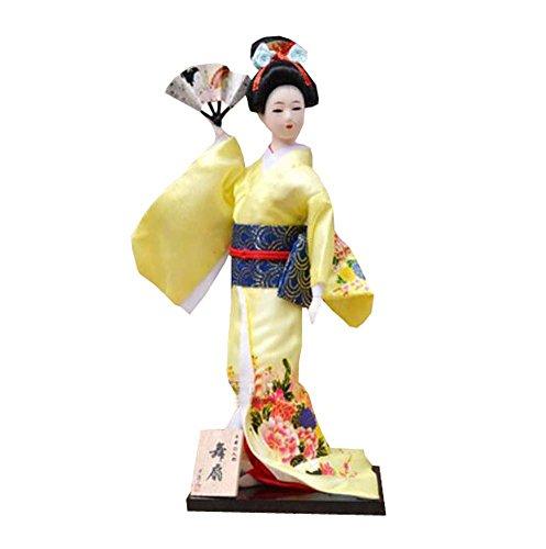 """Zufälliger Stil - 12 \""""japanische Geisha Puppe mit traditionellen Vintage Kimono - A2"""