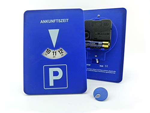 Mitlaufende Parkscheibe Elektronische Parkscheibe mit Uhrwerk Automatische Parkuhr mit Zeiger Parkuhr mit Uhrwerk im Bundle mit einem Clip-Chip Einkaufswagenchip