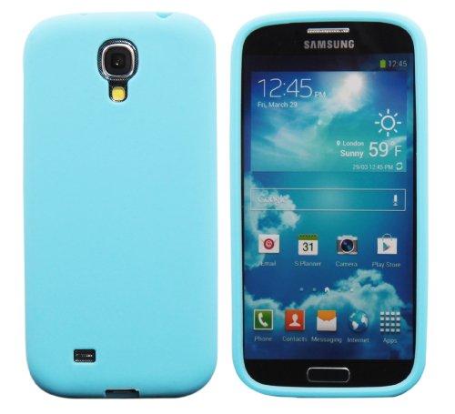 Luxburg® In-Colour Design coque de protection pour Samsung Galaxy S4 GT-I9505, en couleur Turquoise / bleu clair, housse étui case en silicone