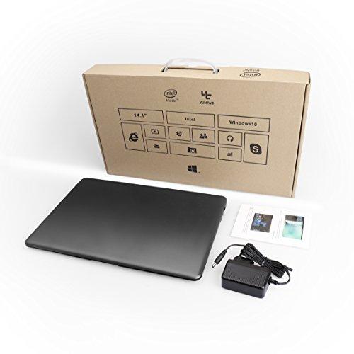 YUNTAB Z140C laptop Windows 10 Ultra slim Tablet 14 Zoll Intel Z8350 Quad-core 1.92 GHz 2 GB RAM 32 GB - 1366*768 Kamera 2 Mps Bluetooth 4.0 HDMI Mit Tastatur Holster einer Schwarz - 8