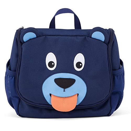 Affenzahn Kulturtasche für 1-3 Jährige Kinder im Kindergarten - Bobo Bär - Blau