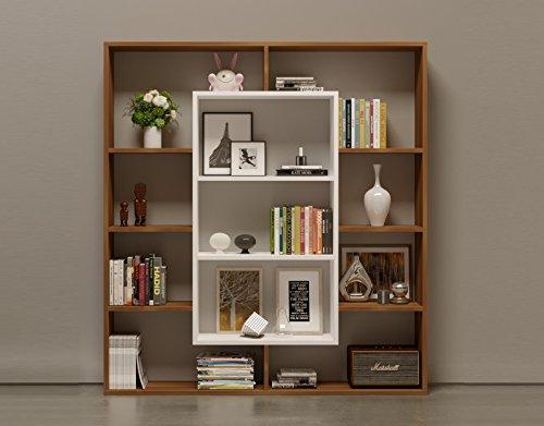 Homidea VENUS Bücherregal - Standregal - Büroregal - Raumtieler für Wohnzimmer/Büro in modernem...