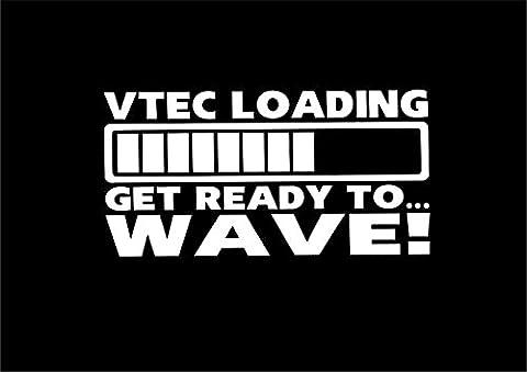 VTEC V chargement Tec Get prêt à Wave Funny autocollant de voiture Motif van fenêtre (Adesivo Vtec)