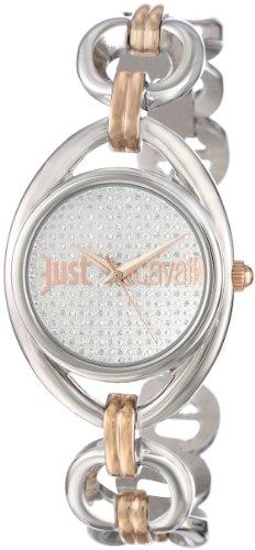 Just Cavalli Drop Reloj de cuarzo para mujer con correa de acero inoxidable color blanco esfera analógica pantalla y plateado r7253182504