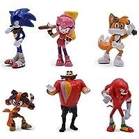 Sonic Toys Action Figure Nendoroid Kids Gift Home Decor 6 PCs Set (A)