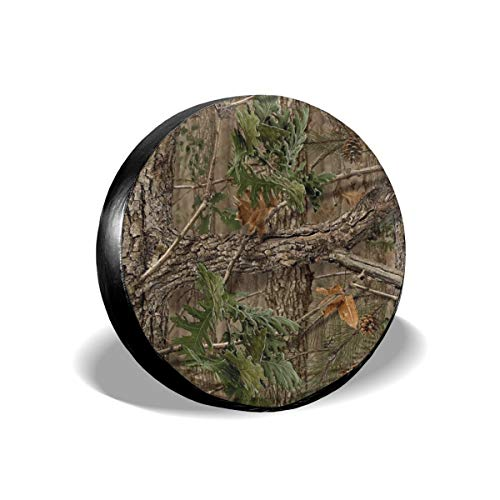 best& Tire Cover Hunting Camo Polyester Universal Spare Wheel Tire Cover Wheel Covers Jeep Trailer RV SUV Truck Camper Travel Trailer Accessories 14 inch