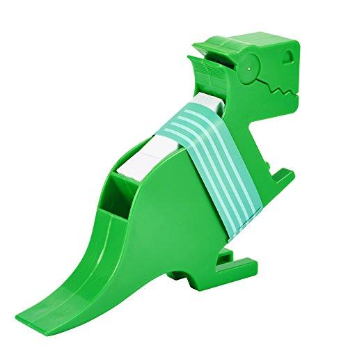 MUROAD Business Zettelhalter Memo, Super klebrig Haftnotizen, Weiß Haftnotiz 200 Blatt(70x70 mm) und Notizzettel-Box mit Halter,mit Dinosaurier-Form,Grün