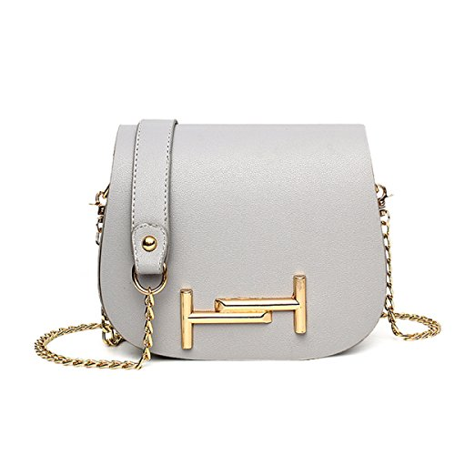 Frauen-Art- Und Weiseschulter-Beutel-Quiltenketten-Kreuz-koreanische Damen-Handtasche,Gray Gray