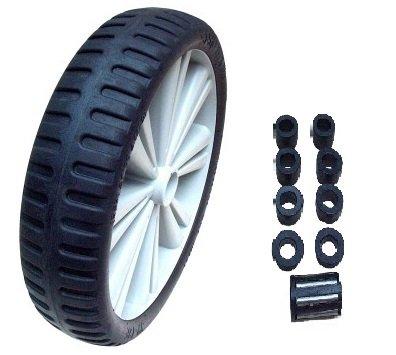 Flex Lite PU Sackkarrenrad grau schwarz *Rollenlager 20mm* pannensicher Ersatzrad 4.00-8 - 400x100-400mm (Lite Schwarz Räder)