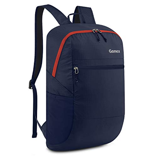 Gonex Rucksack faltbar 30l, Unisex 30 Liter Faltbarer Rucksack Leichter Tagesrucksack, für Outdoor Wandern Reisen, Blau