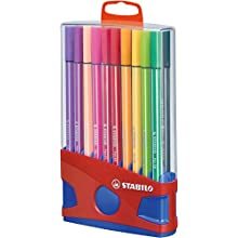 Premium Felt Tip Pen - STABILO Pen 68 ColorParade 20 assorted colours with hanging device
