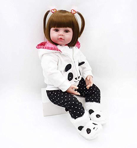 ZIYIUI Reborn Baby Doll Réincarné bébé Poupée Doux Simulation Silicone Vinyle 18 Pouces 45cm Bouche Qui Semble Vivant Garçon Fille Jouet Vif réaliste pour Âge 3+ Boy Girl Jouet