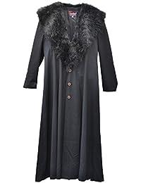 Zoelibat 30003024.008l – Mujer Gótico Steampunk abrigo de pelo sintético con cuello, wadenlang,