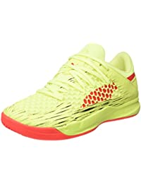 Unisex Adults Evospeed Netfit Euro 3 Multisport Indoor Shoes, Jaune Fluo/Rouge/Noir, 11.5 UK Puma