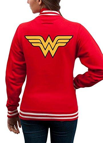 I-D-C CID Wonder Woman-Logo–Chaqueta Hombre, Hombre, Wonder Woman - Logo, FR : XXL (Taille Fabricant : XXL)
