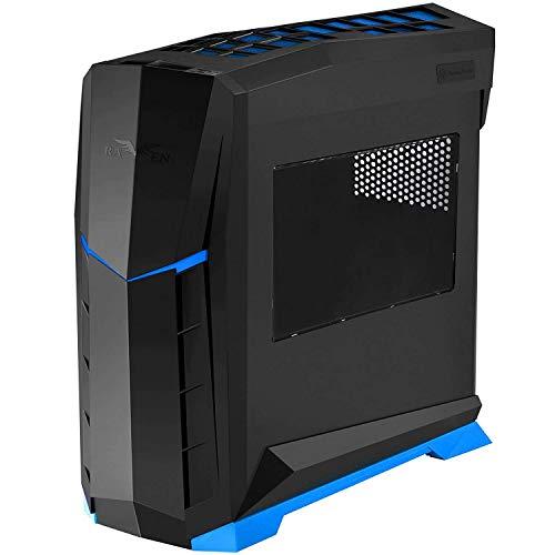 SilverStone SST-RVX01BA-W - Cabinet Raven Mid-Tower ATX da Gaming, finestrato, nero blu